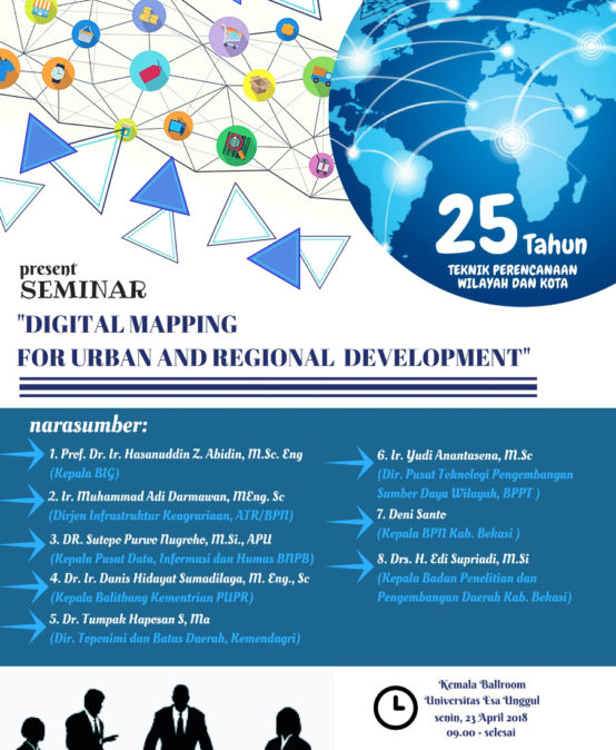 "Perencanaan Wilayah dan Kota Present Seminar ""Digital Mapping For Urban And Regional Development"""