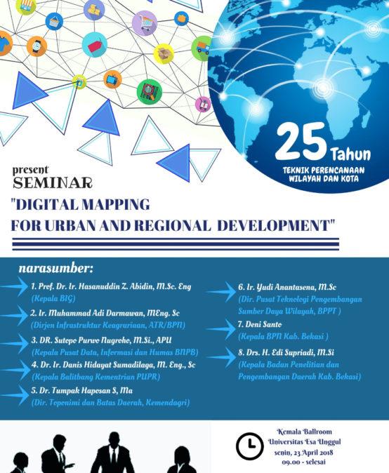 """Perencanaan Wilayah dan Kota Present Seminar """"Digital Mapping For Urban And Regional Development"""""""