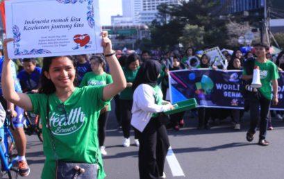 Meriahkan World Health Day, Esa Unggul Gelar Kampanye Kesehatan di Car Free Day