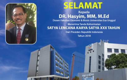 Selamat Dosen Fakultas Ekonomi dan Bisnis Raih SATYA LENCANA KARYA SATYA XXX Tahun, Presiden Republik Indonesia 2018