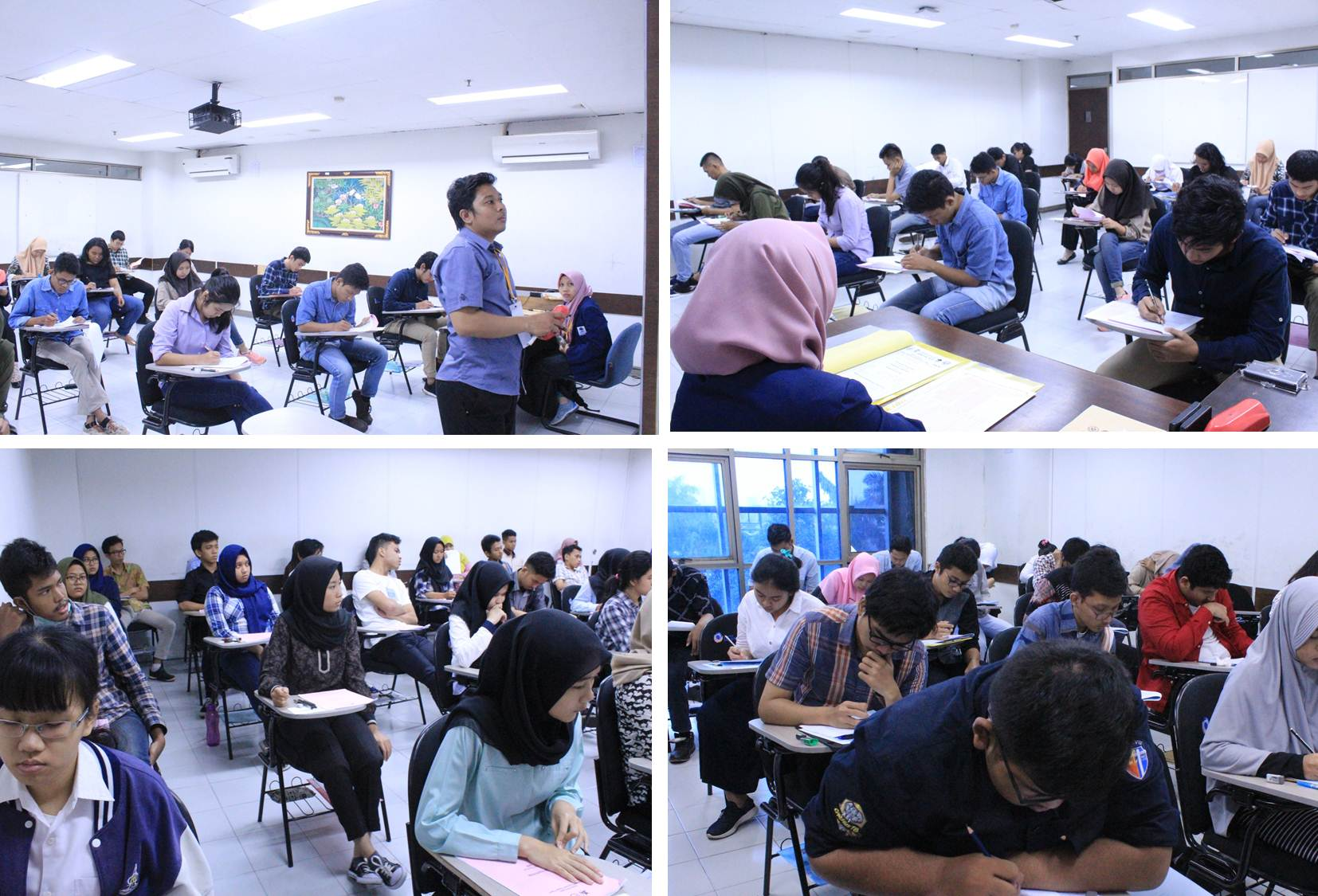 Suasana Saat Para Siswa Mengikuti Ujian SBMPTN
