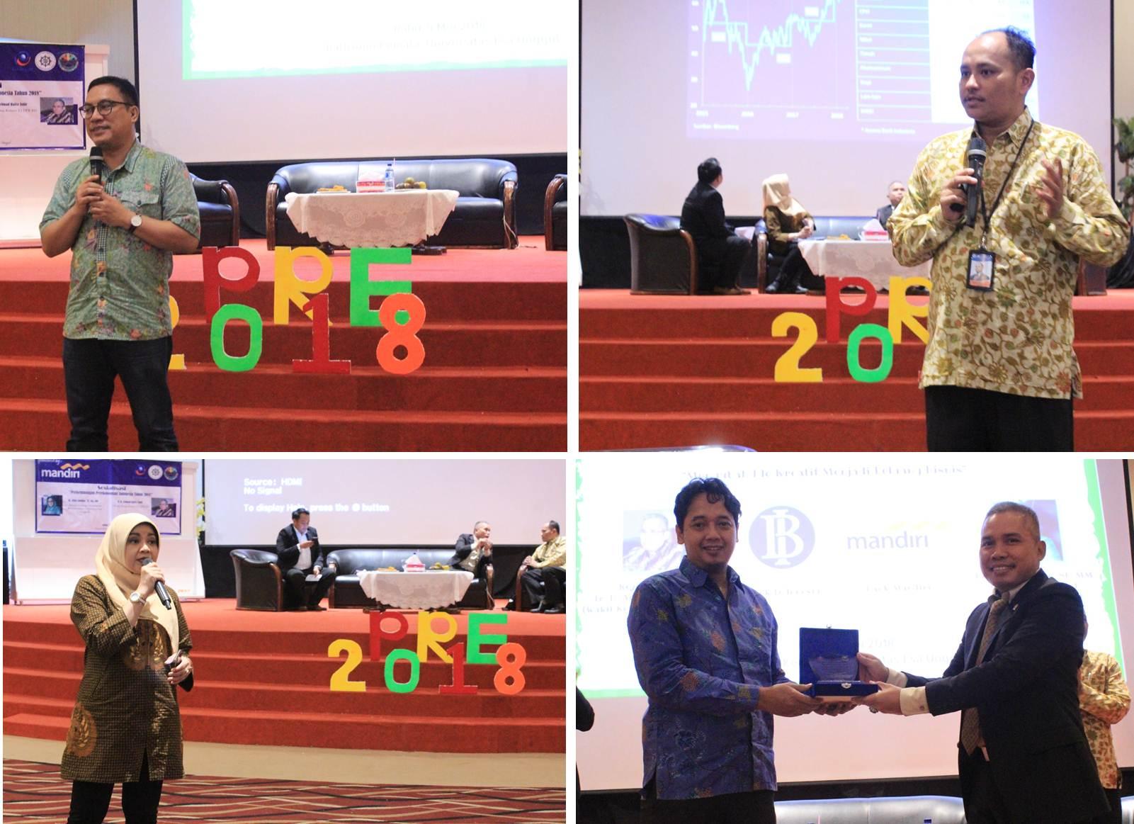 Suasana Saat Pemateri Menyampaikan Materinya dalam seminar Pekan Raya Ekonomi 2018