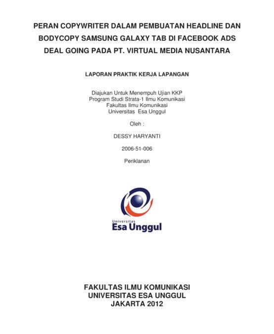 Universitas Esa Unggul Smart Creative And Entrepreneurial Page 2