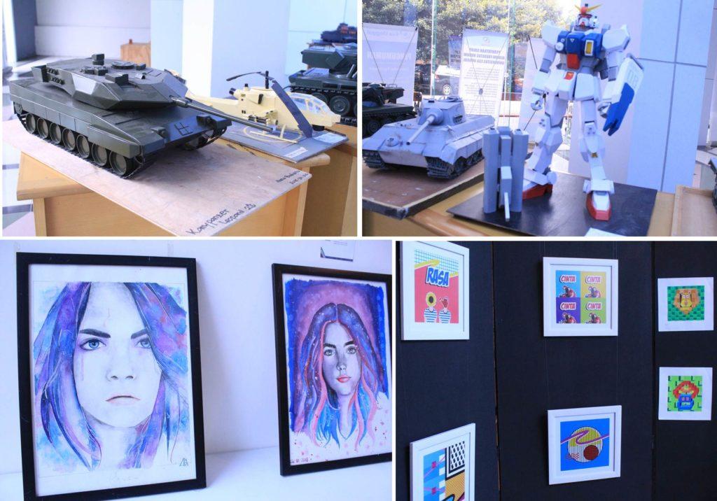 Beberapa Karya yang dipamerkan dalam Interval