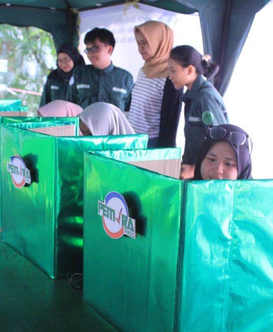 1000 Mahasiswa Fikes lakukan Pencoblosan E-Voting di Pemilihan Umum Raya 2018