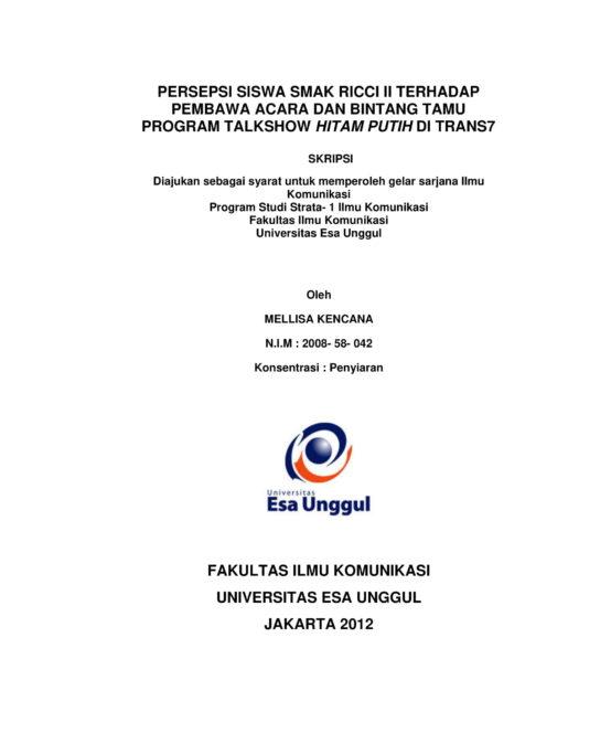 Universitas Esa Unggul Smart Creative And Entrepreneurial Page 441