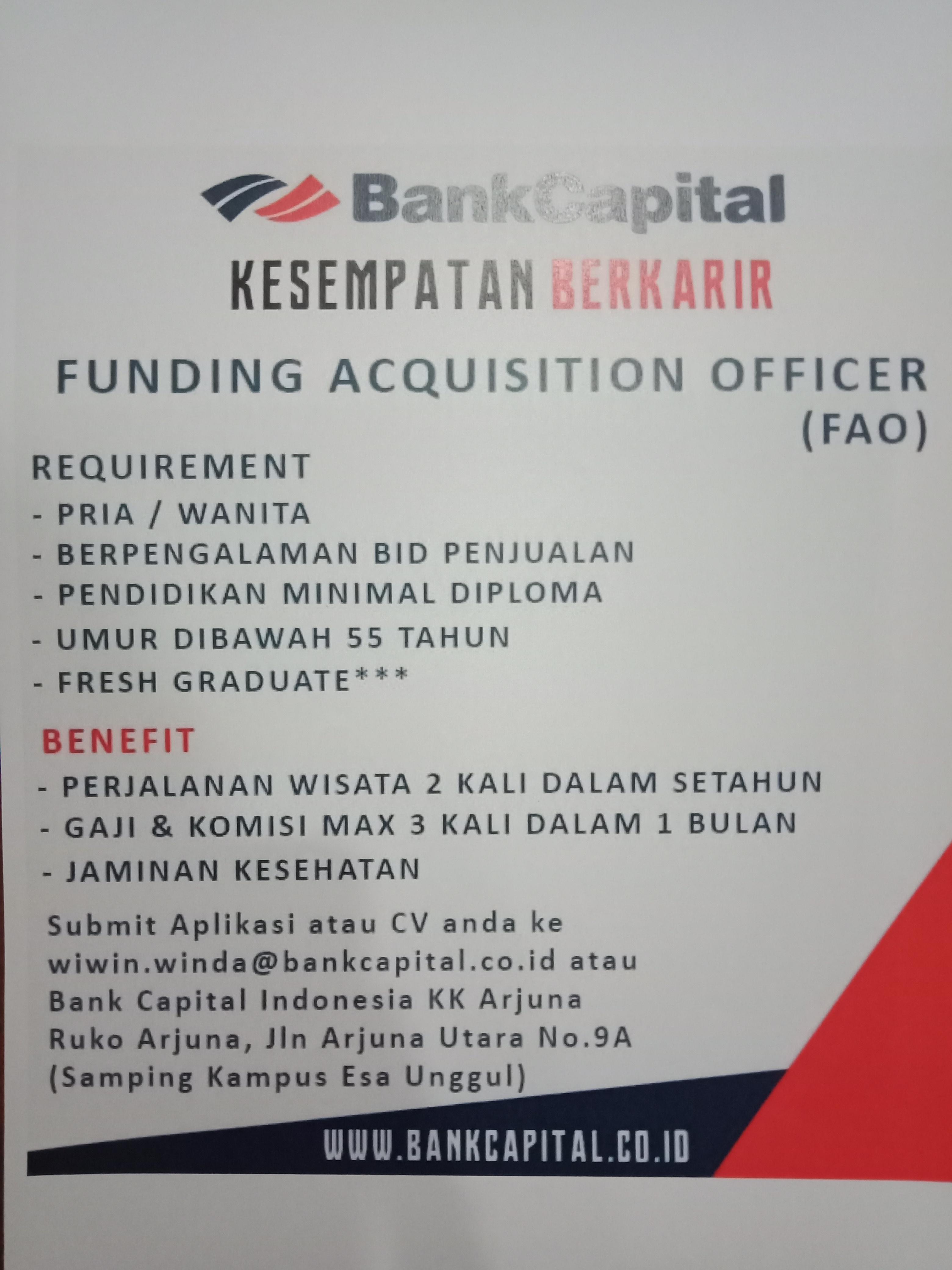 Lowongan Kerja Bank Capital