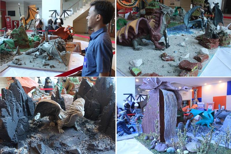 Manekin Naga yang dibuat oleh jurusan Desain Produk