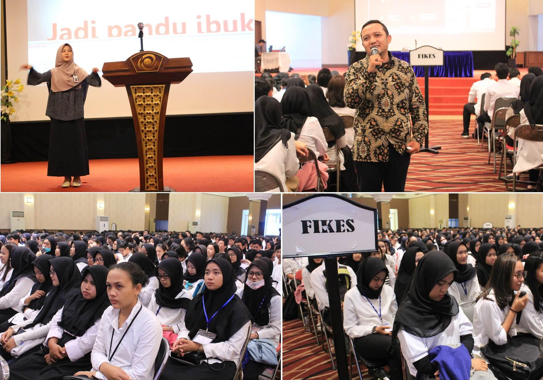 Serangkaian acara dalam Pre University mulai dari Menyanyikan Lagu Indonesia Raya hingg mendengarkan Pemateri