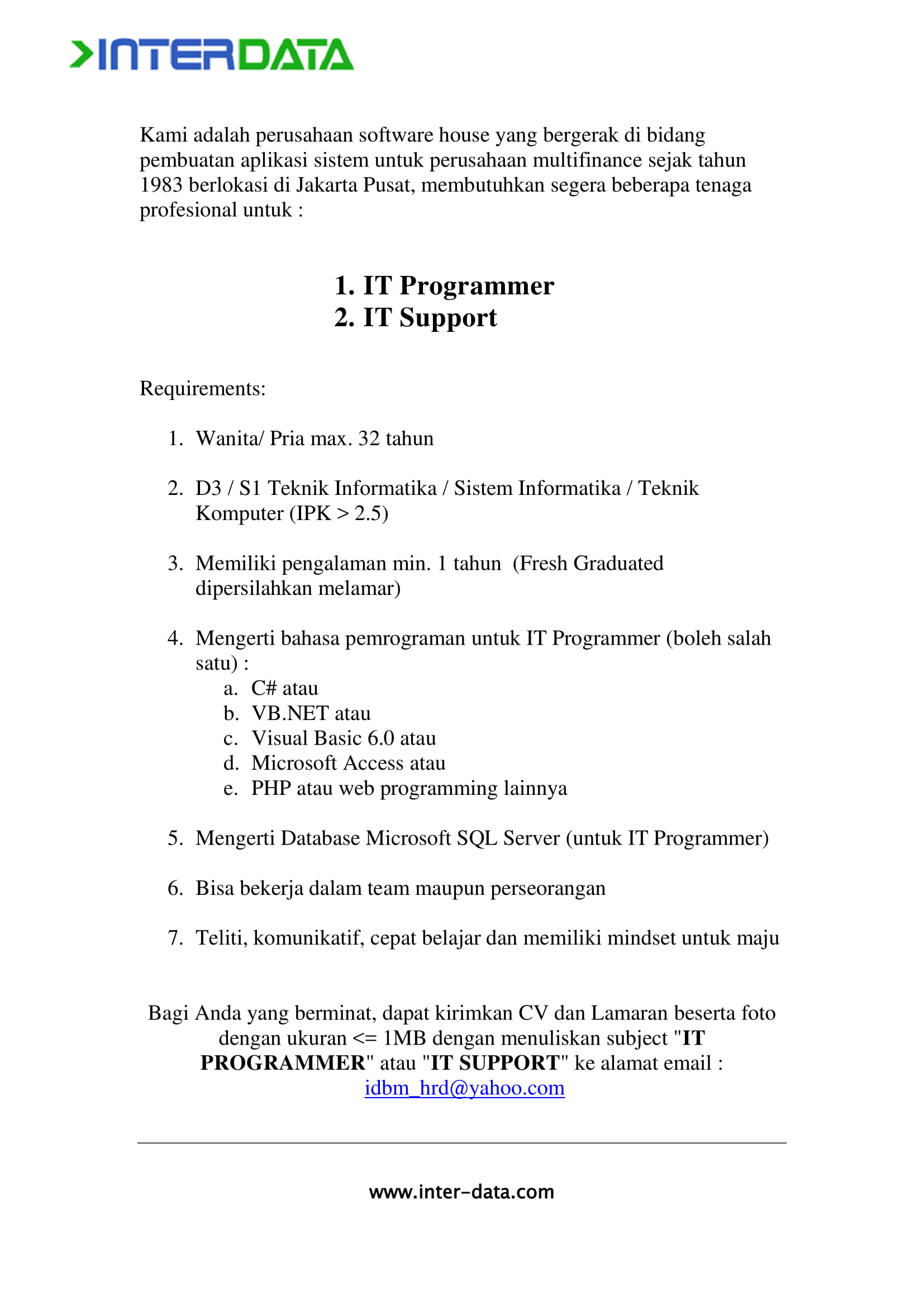 PT. Interdata Bhakti Mulya