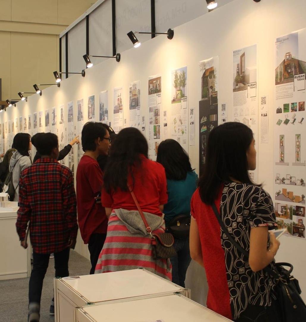 Mahasiswa Desain Interior Esa Unggul Unjuk Gigi di Pameran Homedec 2018