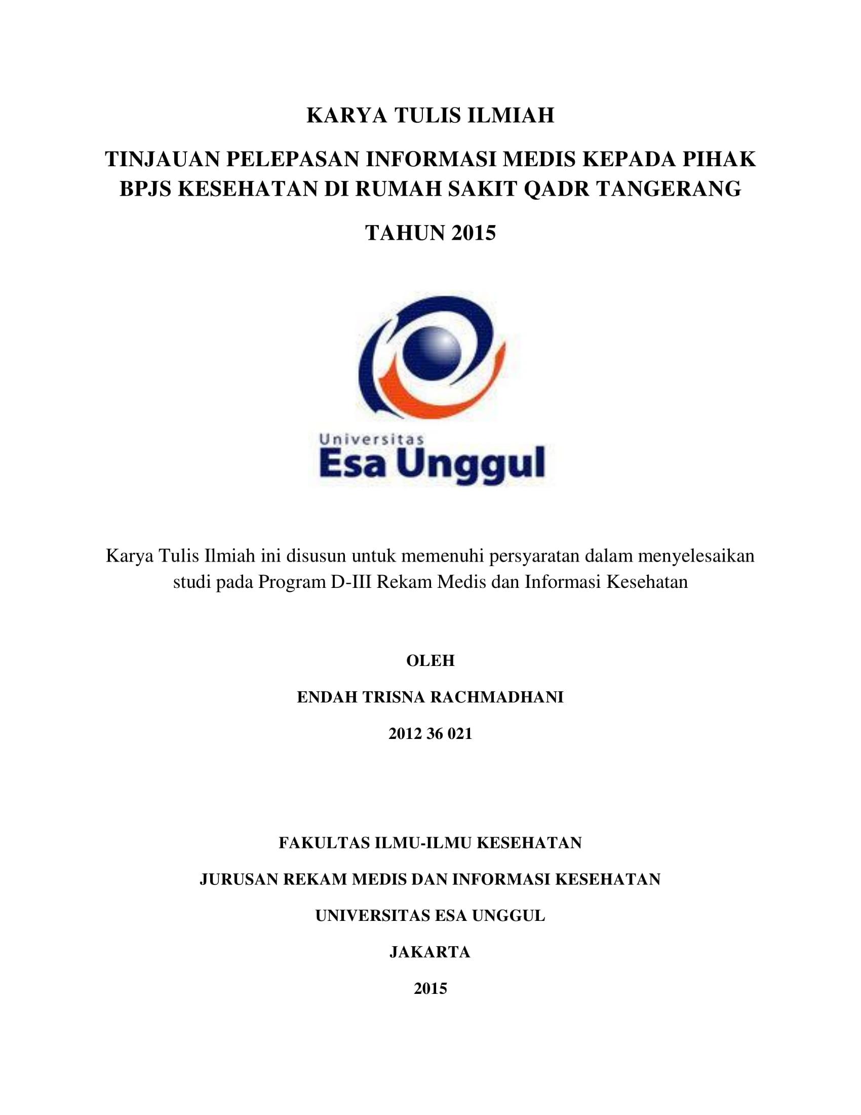 Tinjauan Bpjs Archives Universitas Esa Unggul