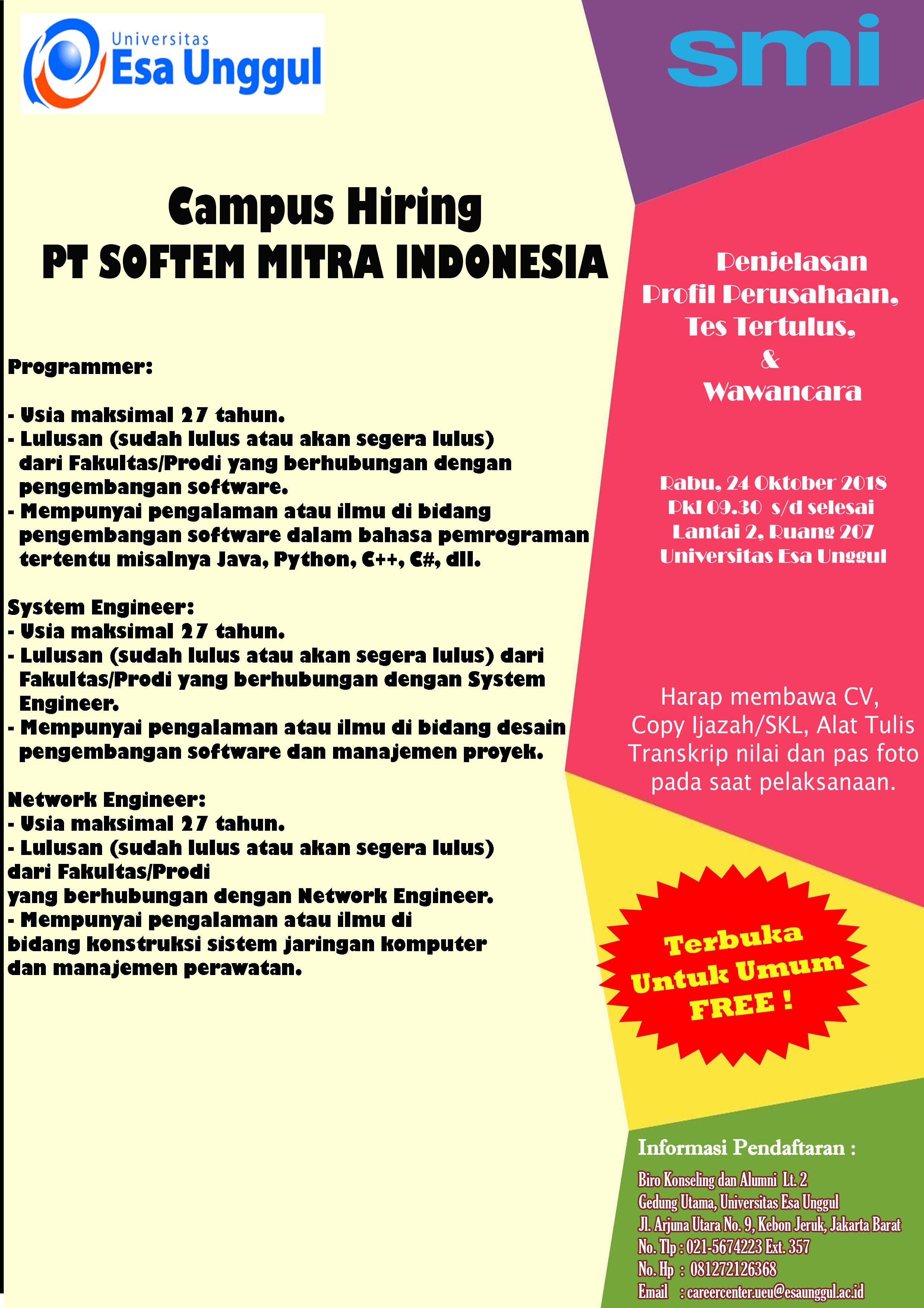 Pt Softem Mitra Indonesia Universitas Esa Unggul Software Pemograman Handphone