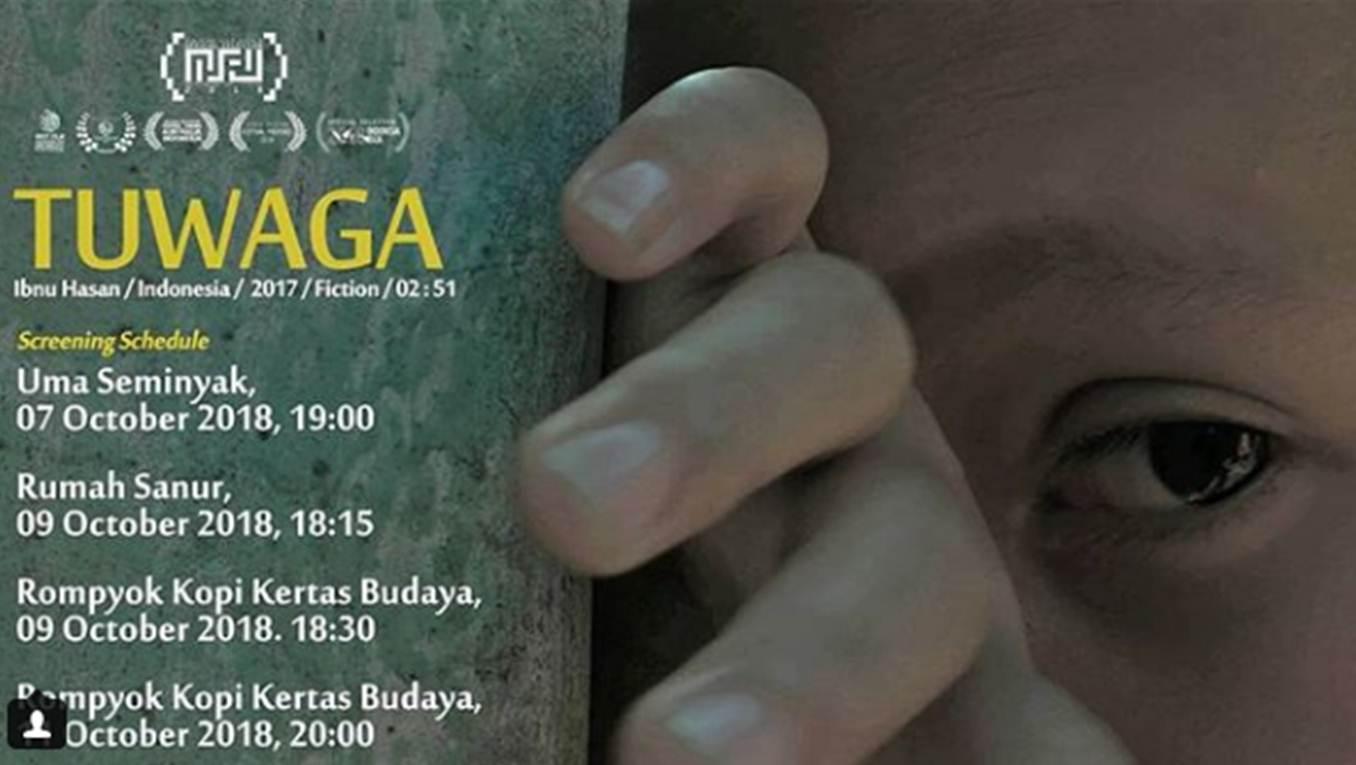 Poster Pemutaran Film Tuwaga di Ajang Festival Film Internasional Bali