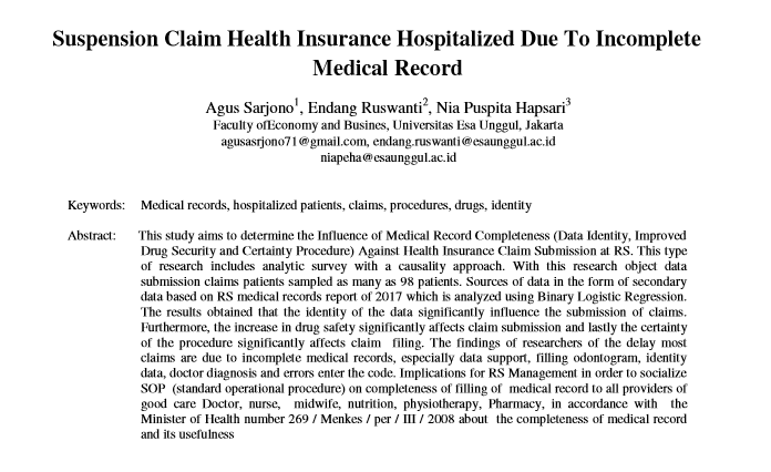 Suspension Claim Health Insurance Hospitalized Due To Incomplete Medical Record
