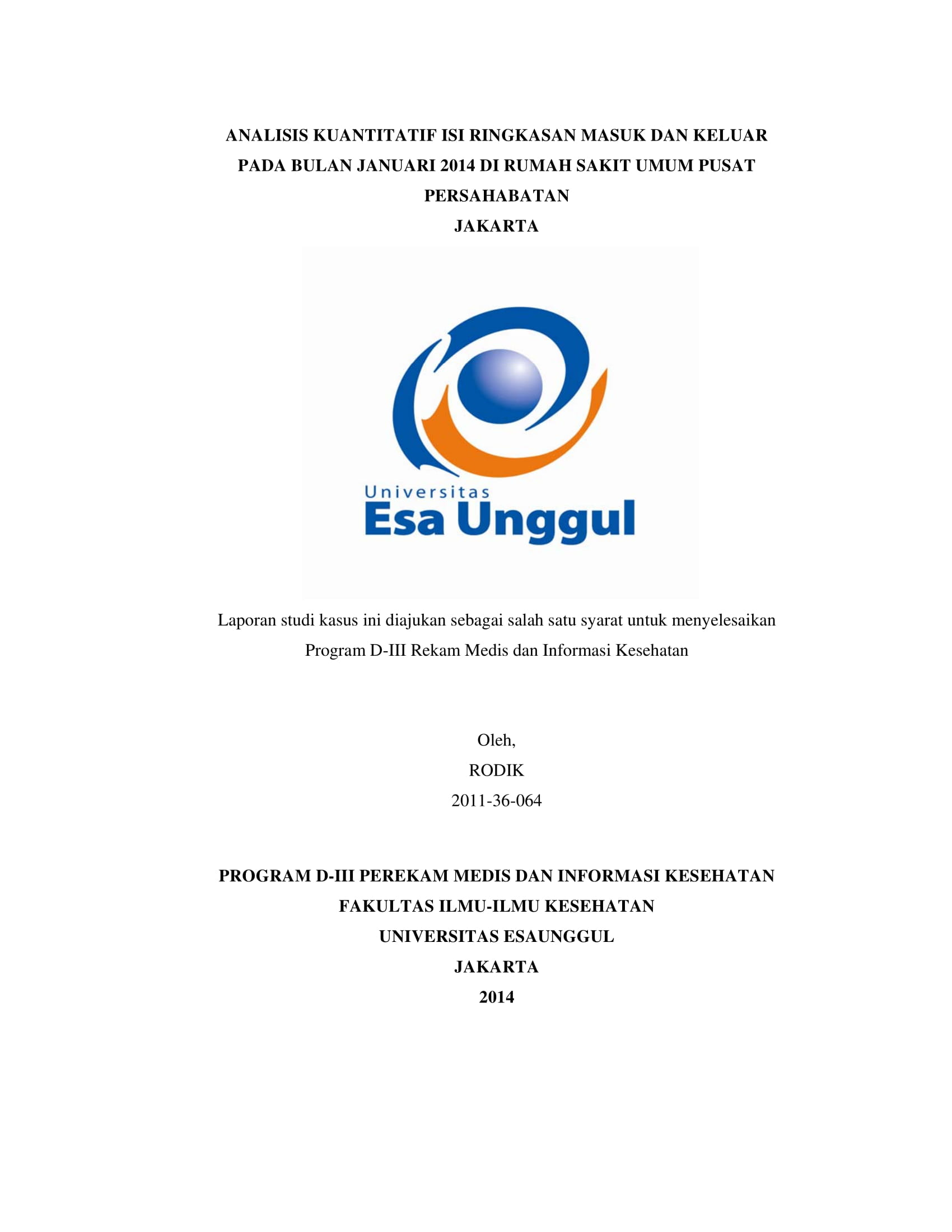 Rekam Medis Archives Universitas Esa Unggul