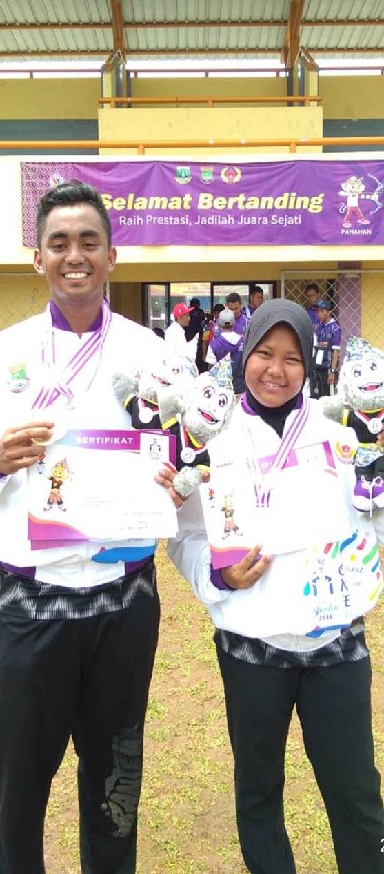 Dua Mahasiswa Esa Unggul Juarai Cabang Panahan di Porpov Banten