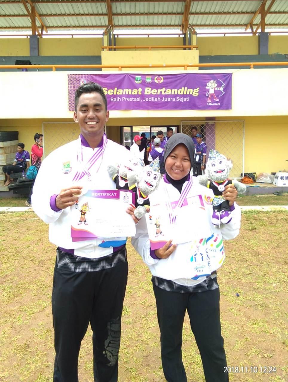 Dua Mahasiswa Esa Unggul yang Berhasil mendapatkan medali di Porpov Banten
