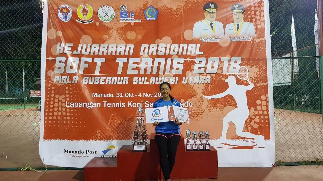 Irene Mahasiswi Psikologi yang mampu meraih sejumlah Prestasi di ajang Soft Tenis