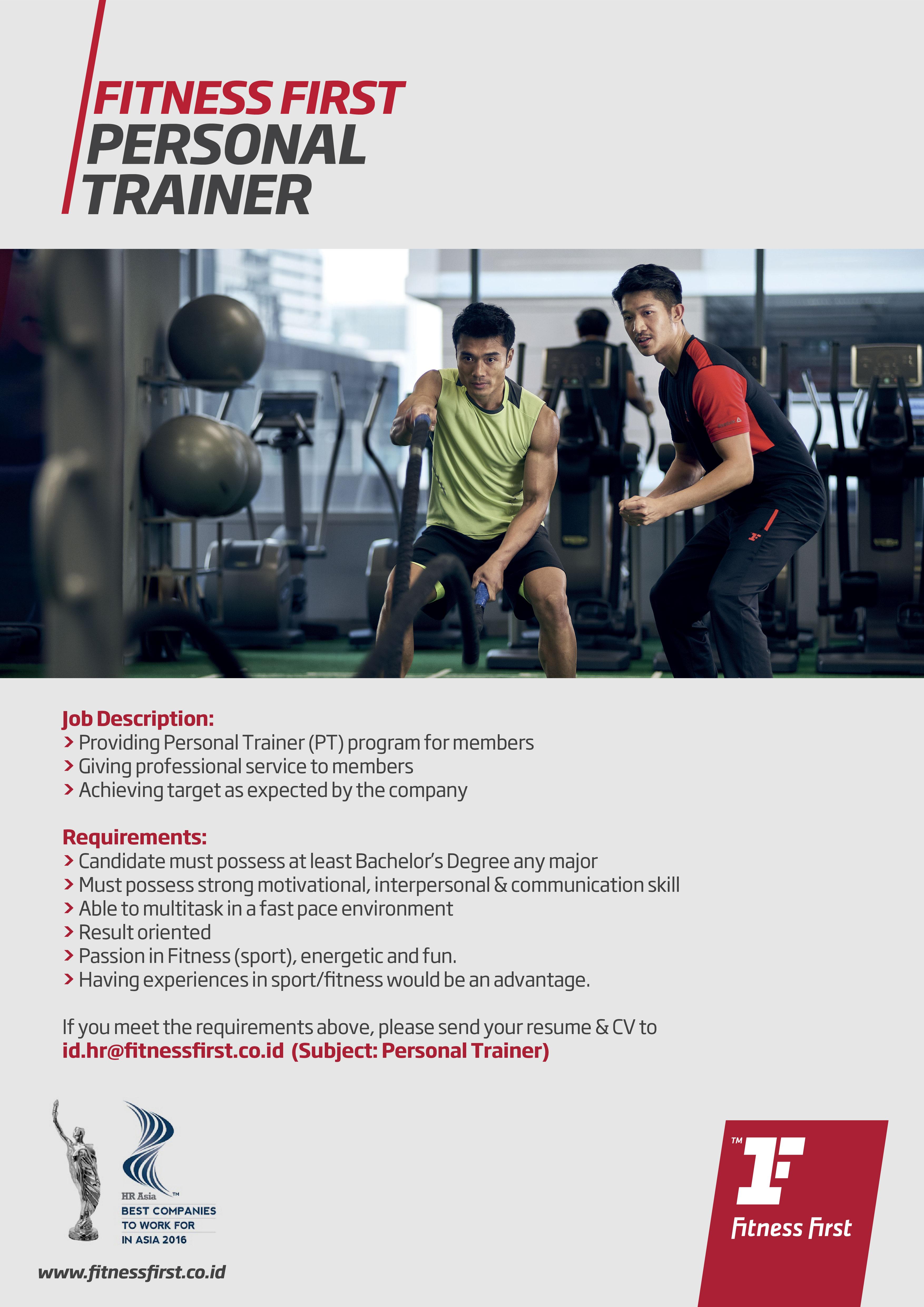 Lowongan Kerja Fitness First Indonesia