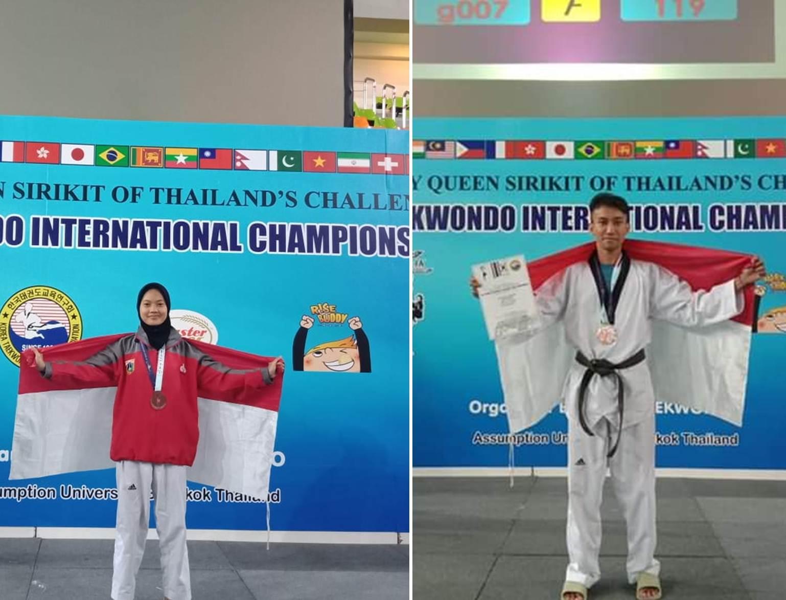 Dua Mahasiswa Esa Unggul Berhasil Juara di Taekwondo Internasional Thailand
