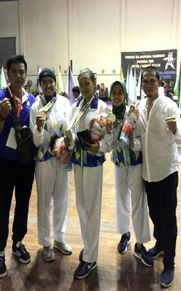 Dua  Mahasiswa Universitas Esa Unggul Raih Perak cabang olahraga Pencak Silat di PORDA XIII Jawa Barat tahun 2018
