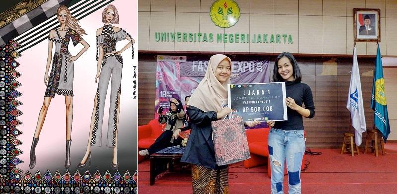 Nurillah Wendiasih Saat berkompetisi di ajang Desain Expo 2018