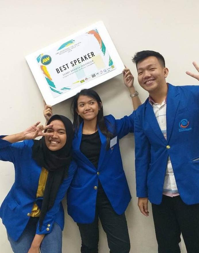 Mahasiswa Akutansi Esa Unggul Sabet Gelar Best Speaker di Accounting Week 2.0 UIN Jakarta