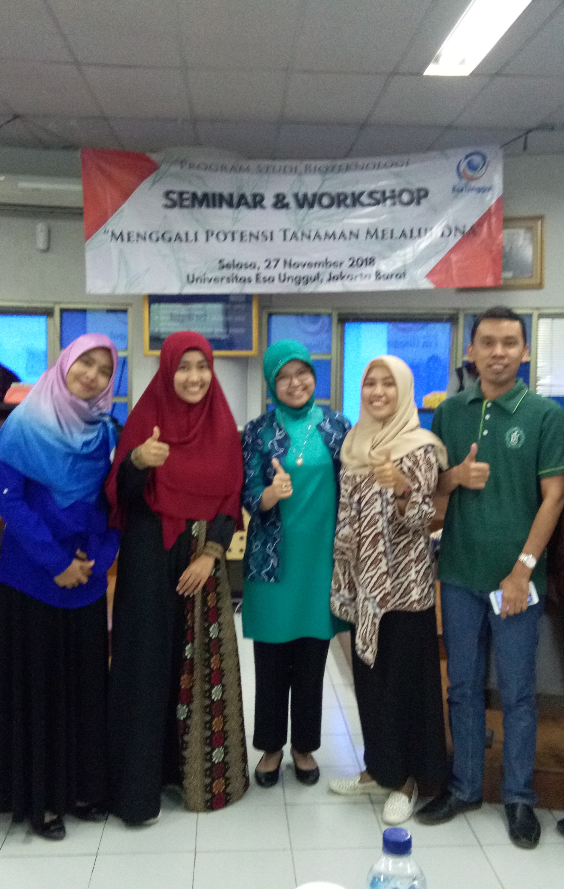 """Gali Potensi DNA Tanaman, Bioteknologi UEU Gelar Seminar dan Workshop """"Isolasi DNA tanaman"""""""