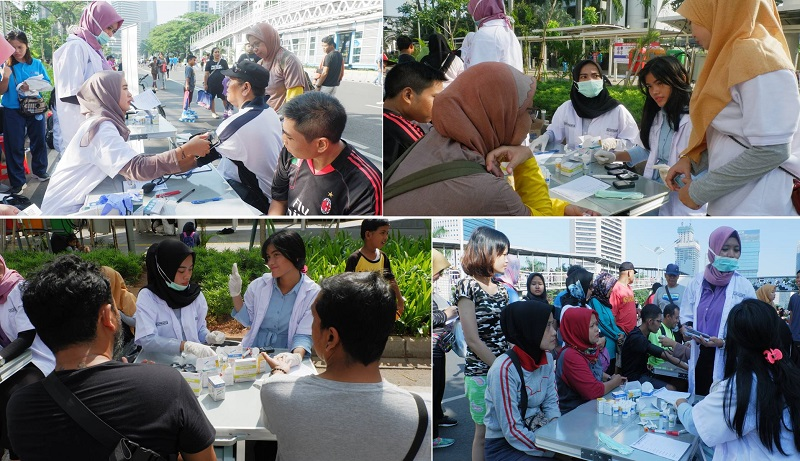 Sejumlah Masyarakat yang ikut memeriksakan Kesehatannya di CFD