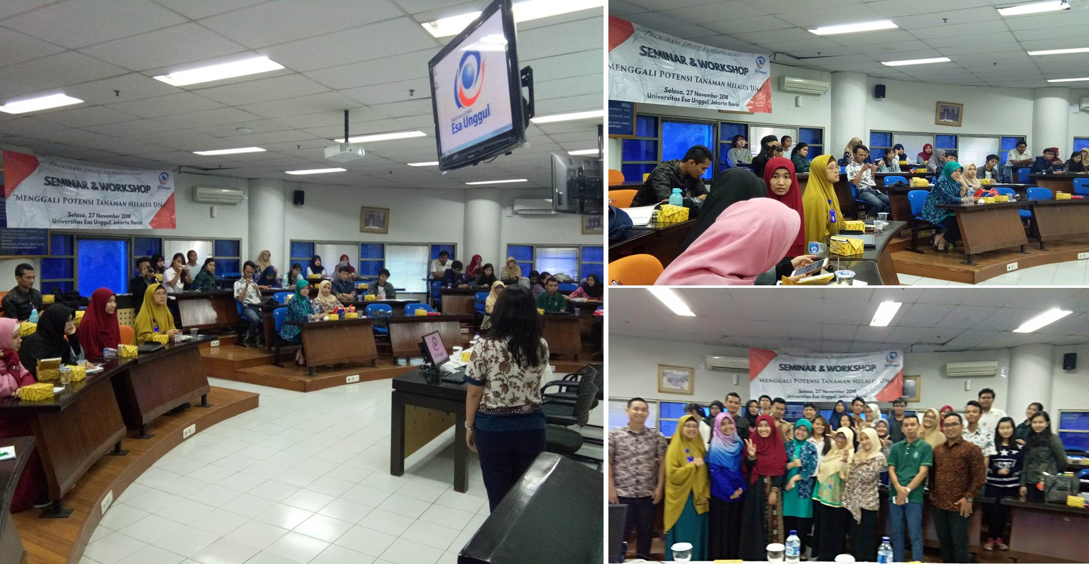 Suasana Saat Seminar dan Workshop Isolasi DNA