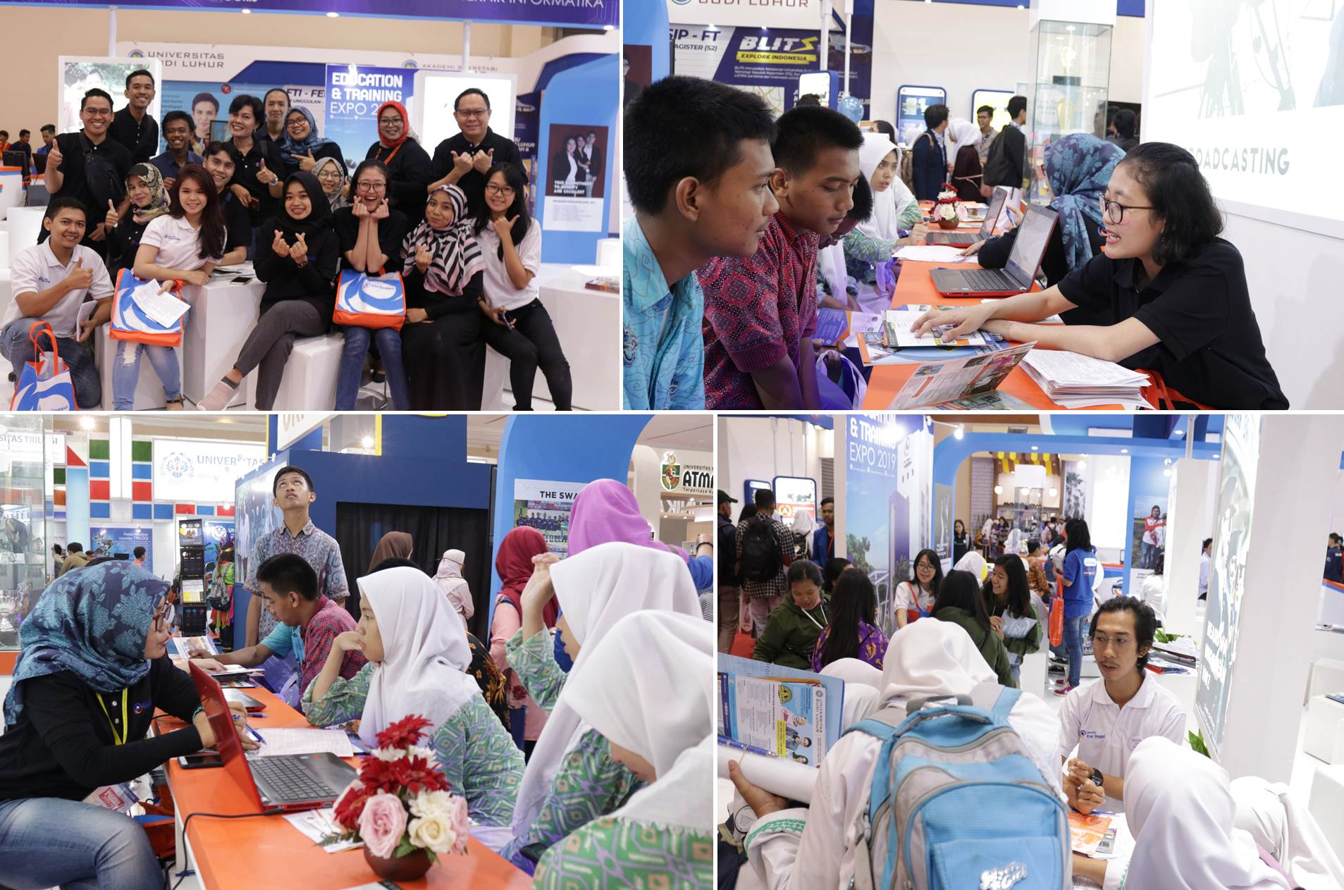The atmosphere at Stan Esa Unggul at the IIETE 2019 Exhibition