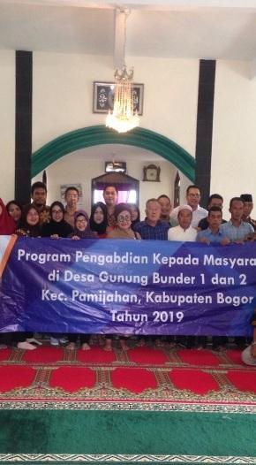 Program Pengabdian Kepada Masyarakat di Gunung Bunder, Kabupaten Bogor