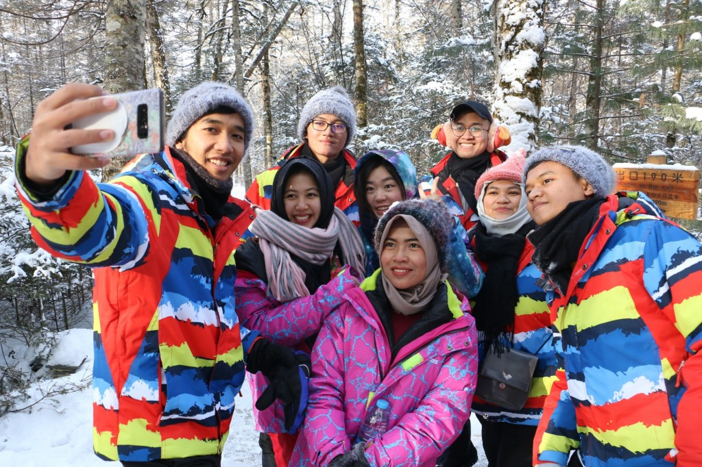 The Excitement of Esa Unggul University Joint Degree Students in Joining Harbin Winter Camp in China