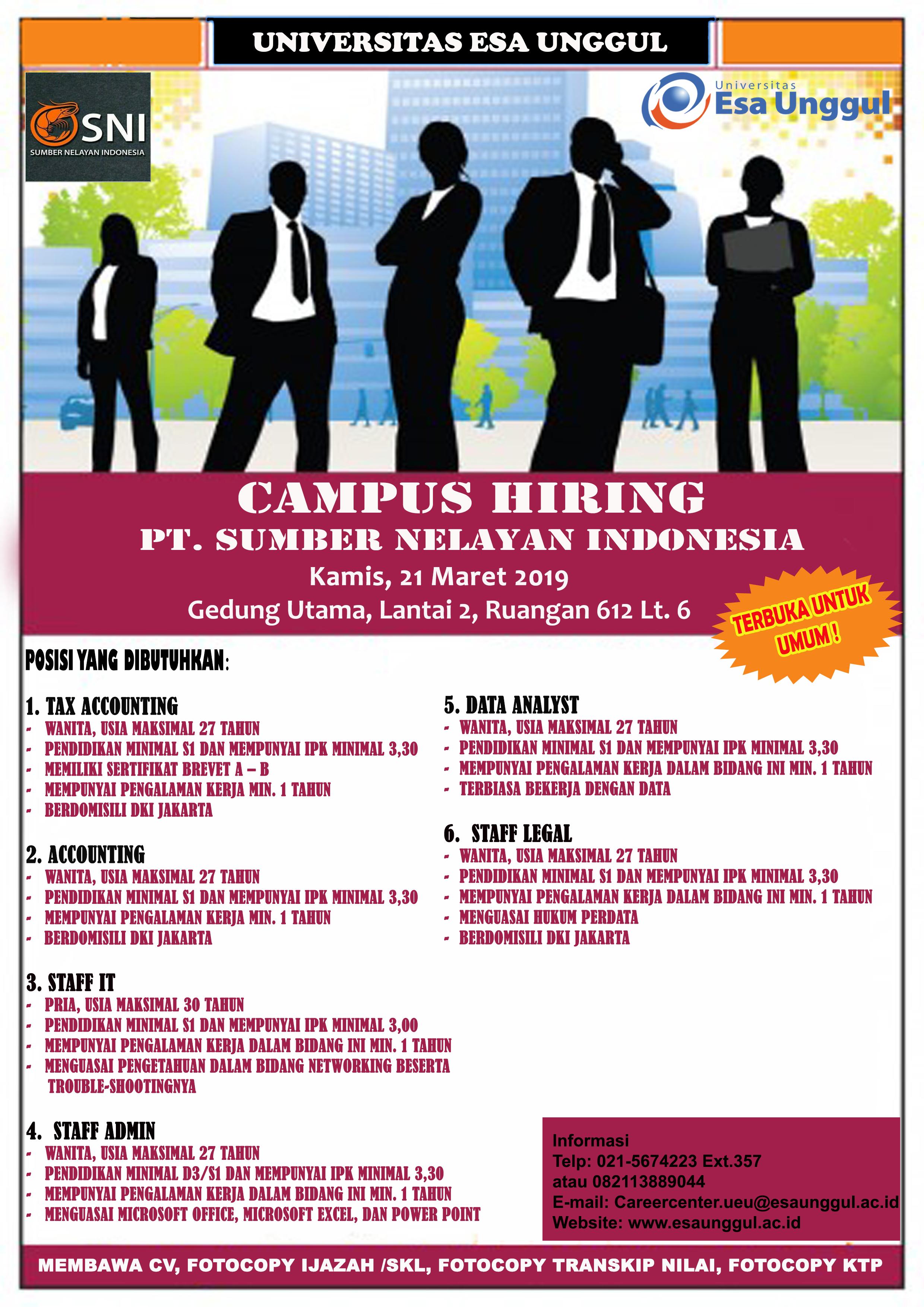 Campus Hiring PT. SUMBER NELAYAN INDONESIA
