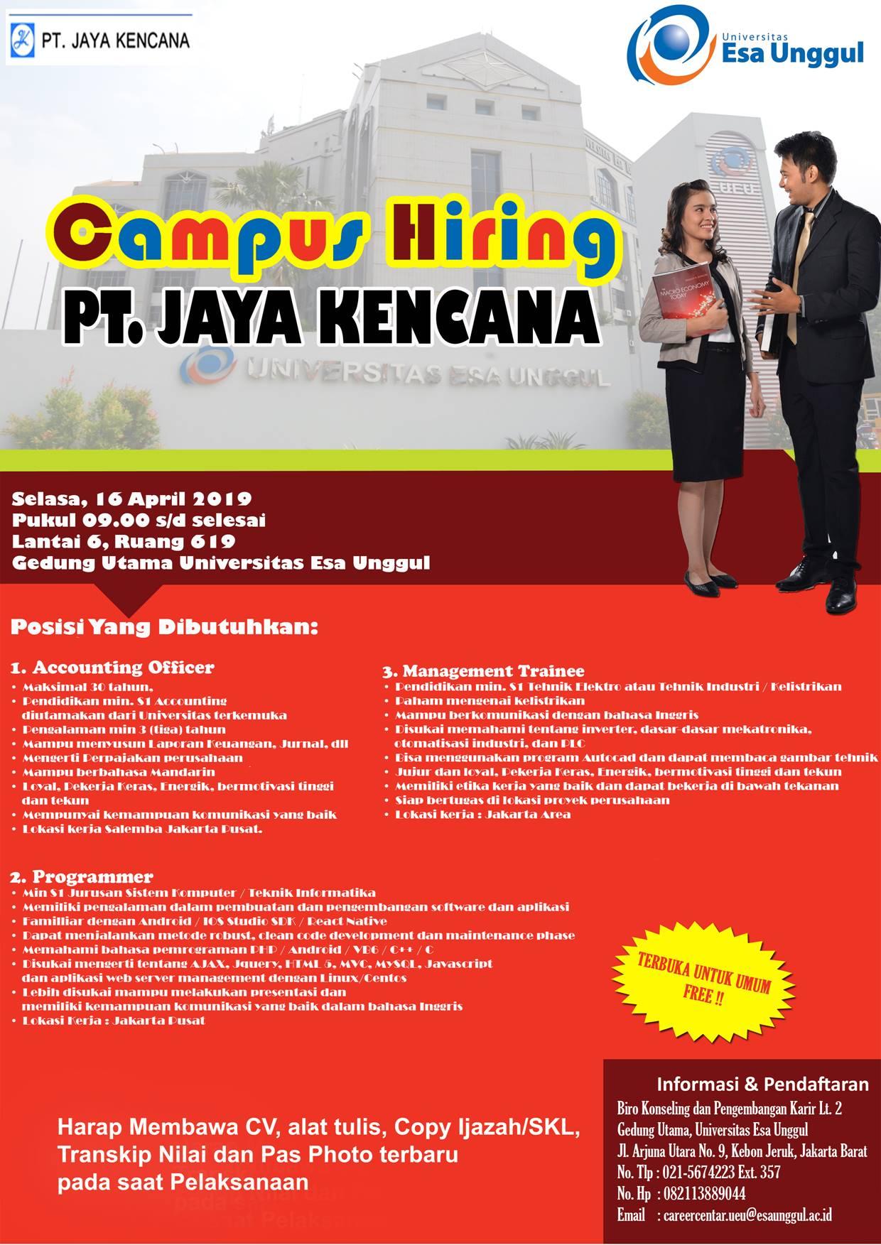 Campus Hiring PT. Jaya Kencana