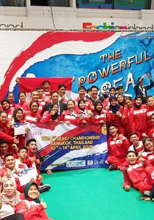 Mahasiswa Rekam Medis UEU Bantu Tim Karate Indonesia Borong Medali di 8th SEAKF Championship 2019