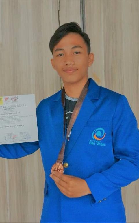 1 ( Satu ) Mahasiswa Universitas Esa Unggul Raih Juara 3 dalam Kejuaraan Nasional Beladiri Wugames UI 2018