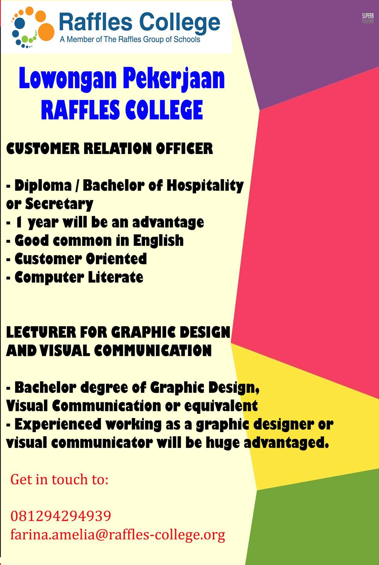 Lowongan Kerja Raffles College