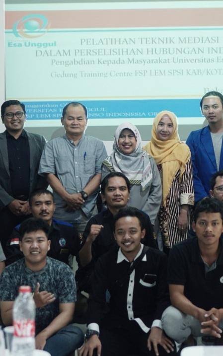 Universitas Esa Unggul Berikan Pelatihan Teknik Mediasi Bagi Serikat Pekerja PT Denso Group