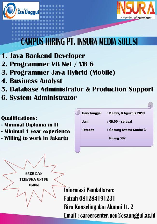 Campus Hiring PT. INSURA MEDIA SOLUSI