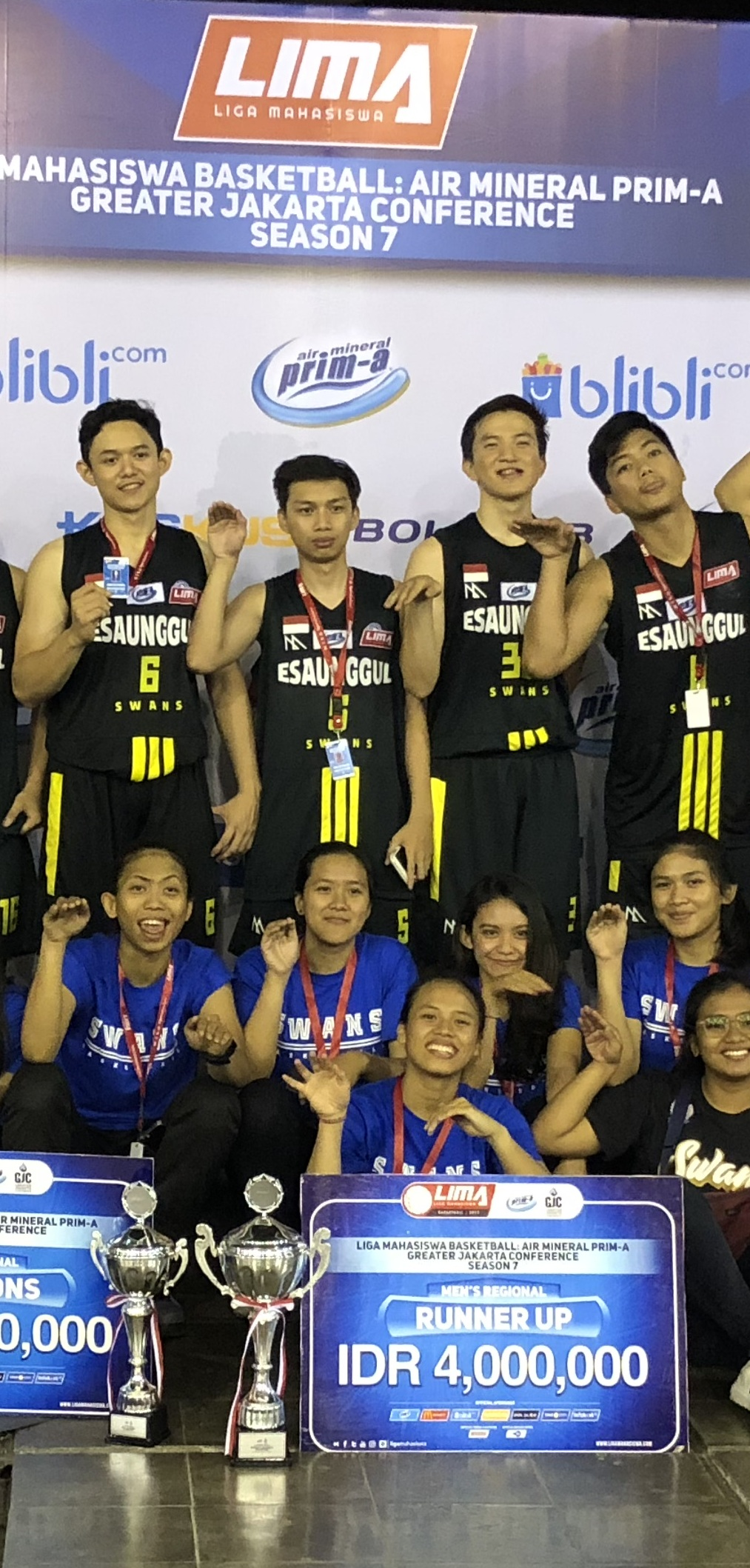 Keren!! The Swans Juara LIMA Basketball 2019