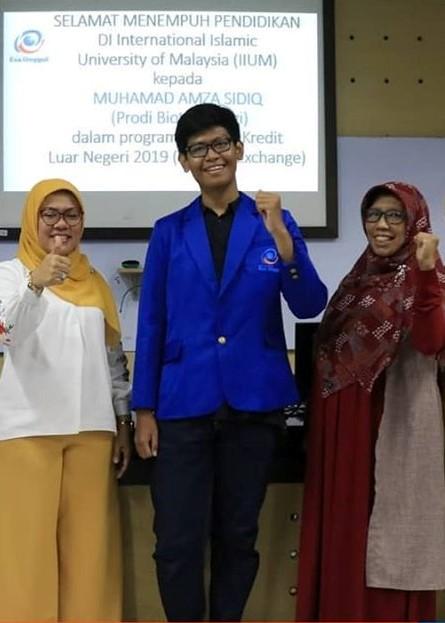 Amza Sidiq Mahasiswa Bioteknologi Esa Unggul Terpilih Ikuti Student Exchange ke IIUM Malaysia
