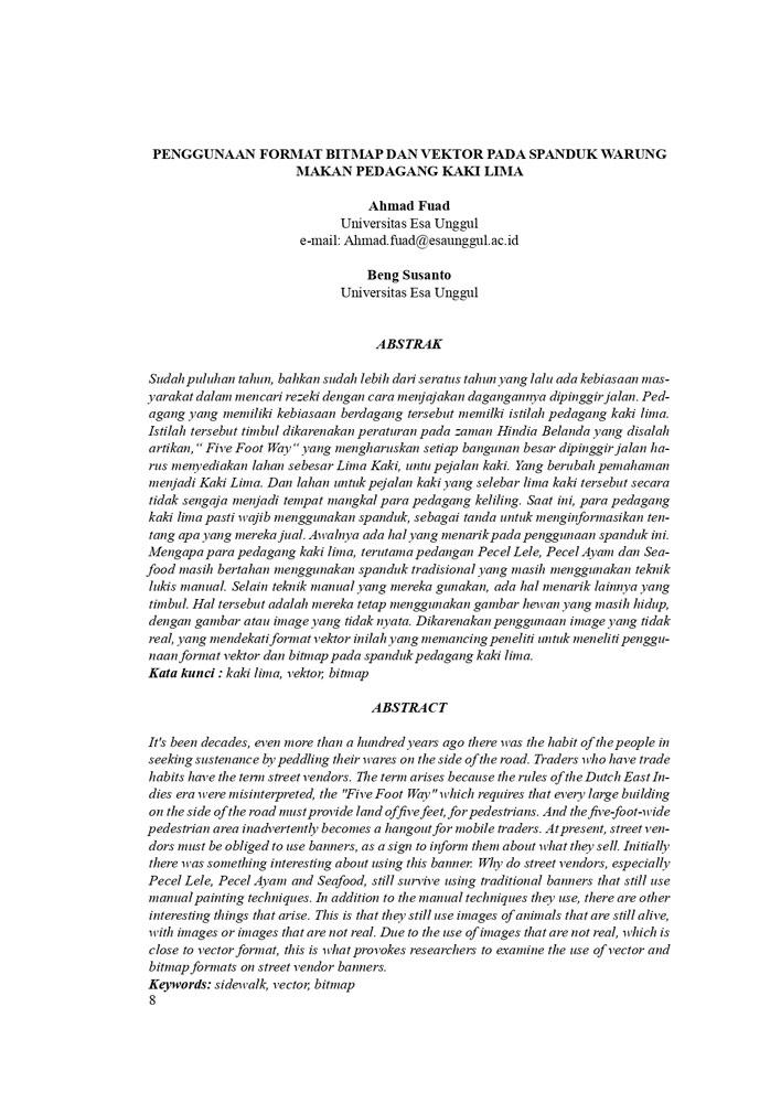 Penggunaan Format Bitmap dan Vektor pada Spanduk Warung Makan Pedagang Kaki Lima