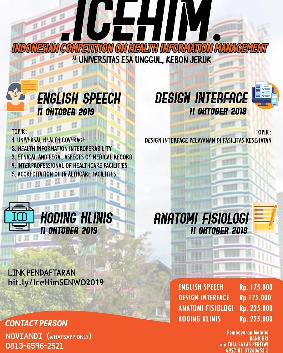 Indonesian Competition on Health Information Management