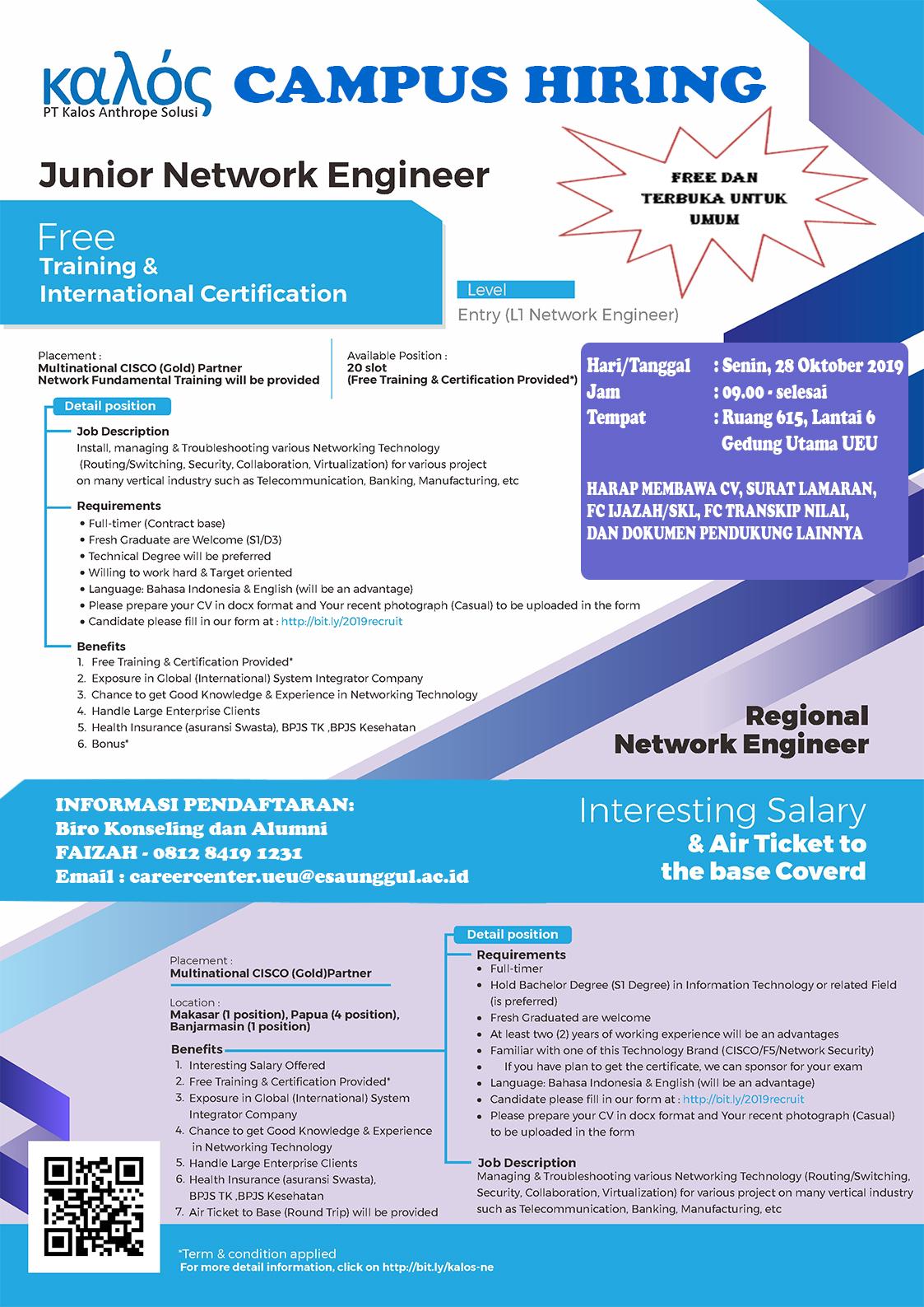 Informasi Campus Hiring PT. KALOS ANTHROPE SOLUSI