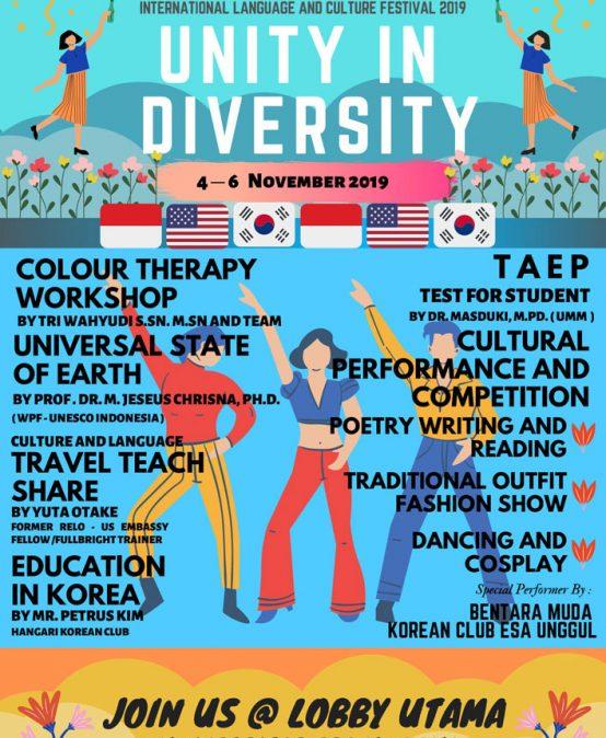 Festival Bahasa dan Budaya Internasional 2019 dengan Tema Unity in Diversity