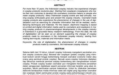 Peran Digitalisasi dalam Fenomena Perubahan Produk Cosplay Buatan Cosmaker pada Industri Cosplay Indonesia