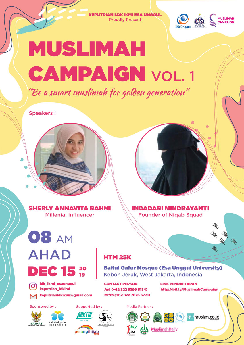 Seminar Muslimah Campaign Vol. 1 : Be a Smart Muslimah for Golden Generation