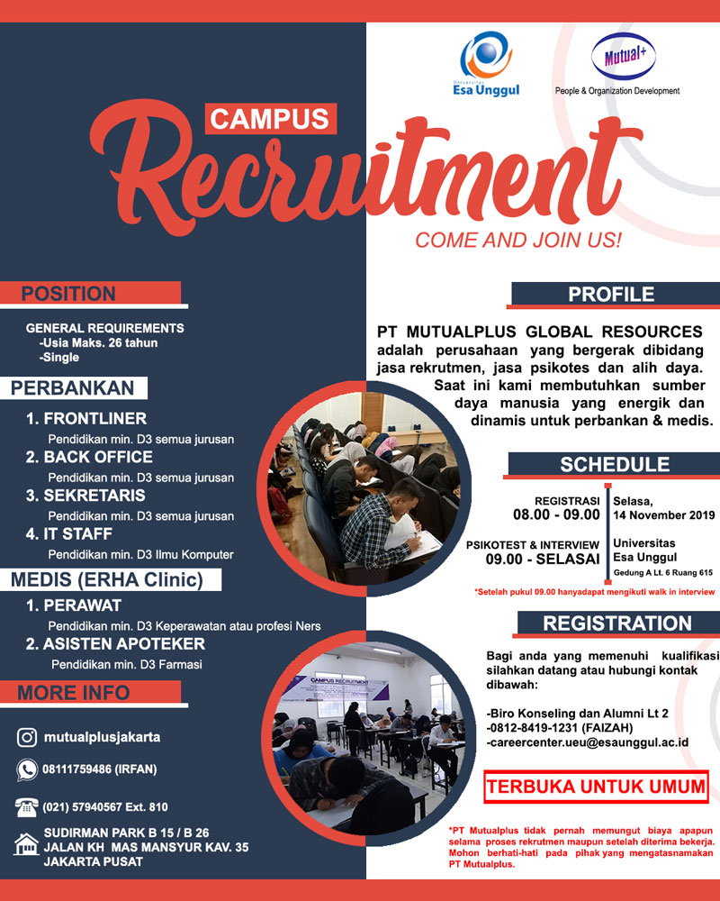 Campus Hiring PT. MUTUAL PLUS